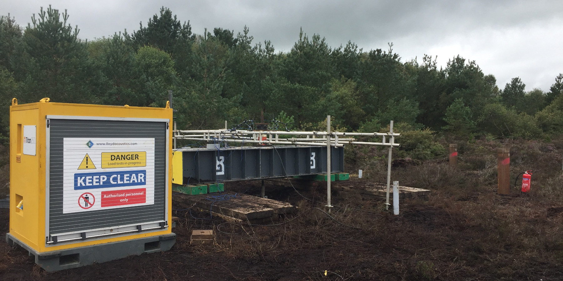 PJ Piling Contracts LDG Lloyds Testing at Timahoe North Solar Farm Images