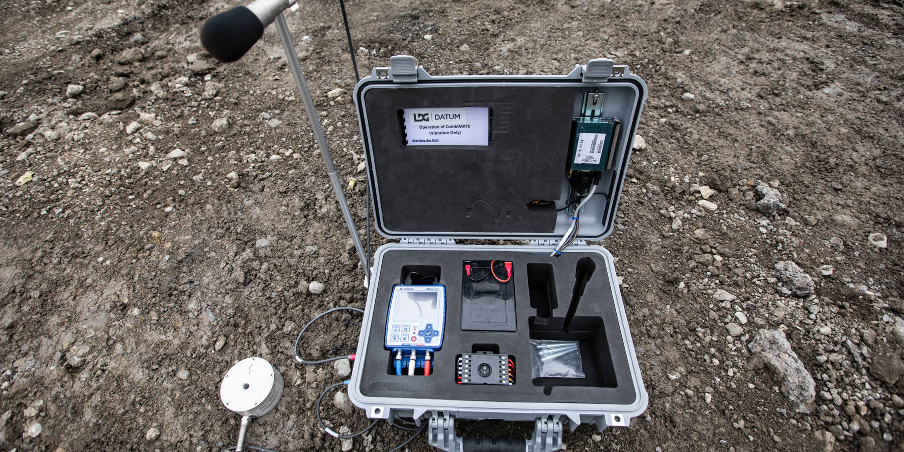 CombiMate Portable Vibration & Noise Monitoring Images